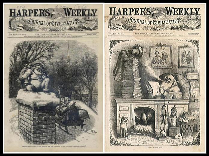 Image result for images santa harpers weekly