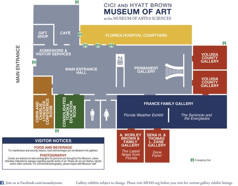 Cici and Hyatt Brown Museum of Art Map